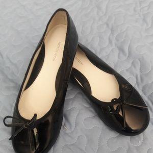 NORDSTROM GIRLS BLACK PATENT BALLET FLAT